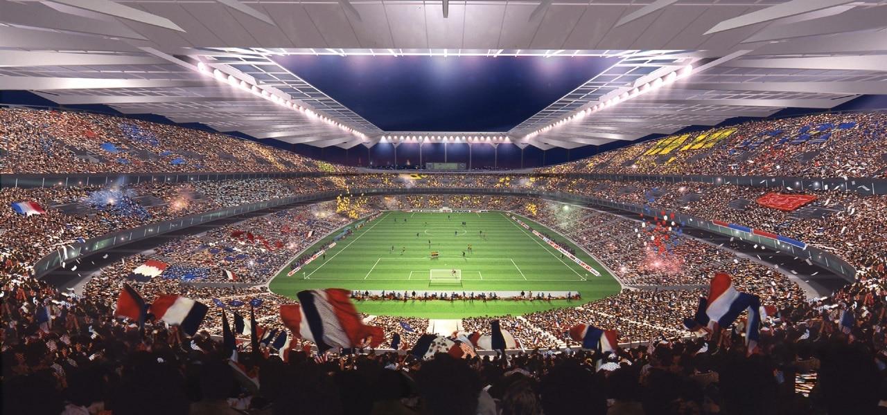 Vue du stade de France de l'intérieur