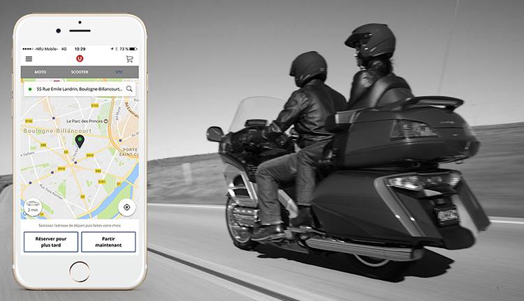 Commande d'un chauffeur UrbanDriver depuis votre Iphone.