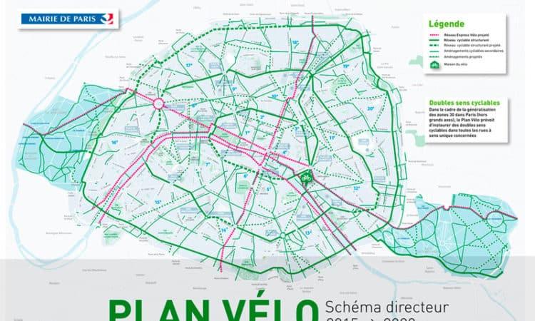 Projets de piste cyclable à Paris