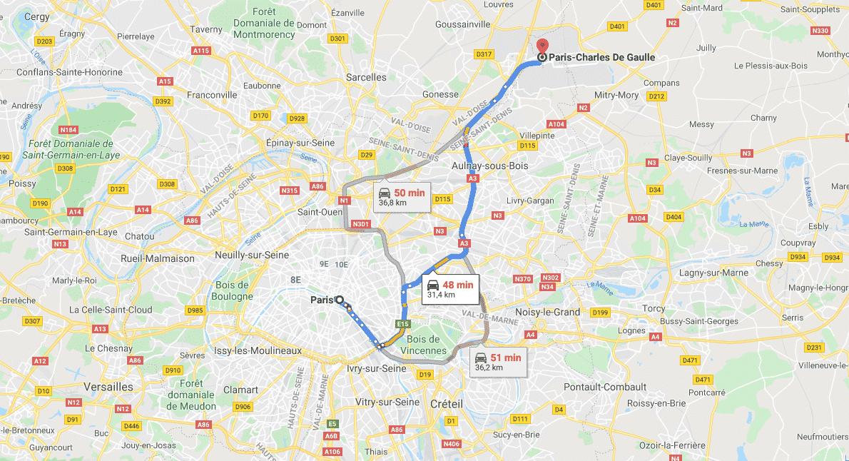 Comment se rendre à l'aéroport Roissy Charles de Gaulle
